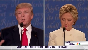 'Late Night' Presidential Debate Between Clinton & Trump