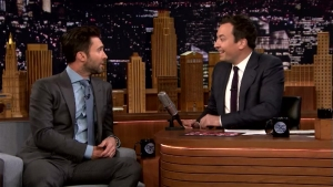 'Tonight': Adam Levine Dons Suit Jacket Cape