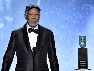 Actor Morgan Freeman Receives SAG Life Achievement Award