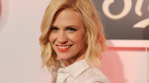 January Jones Stays Mum on Son's Paternity