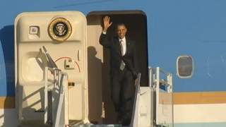 [MI] President Barack Obama Arrives at Miami International Airport on Air Force One