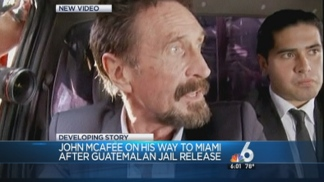 John McAfee Flying to Miami International Airport: Officials
