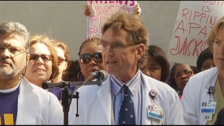 Jackson Health System Employees Rally Against Cuts