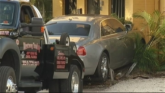Rolls Royce Crashes Into Building After Shooting in Fort Lauderdale