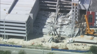 RAW VIDEO: Helicopter Footage of Miami-Dade College Parking Garage Collapse Day 2