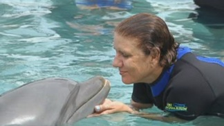 Cancer Survivors Swim With Dolphins At Miami Seaquarium