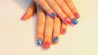Patriotic Nail Art for July 4
