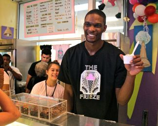 Chris Bosh Gives Back on Miami Beach