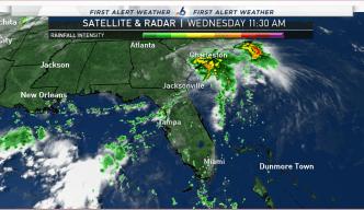 T.S. Julia Drops Heavy Rains on North Florida, South Georgia