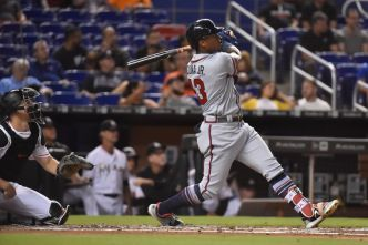 Acuna Homers, Gets Hit Again as Braves Shut Out Marlins