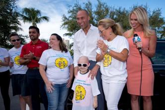 Jeter Surprises Family Battling Leukemia with Car