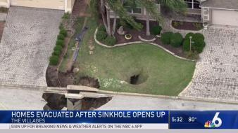 Homes Evacuated After Massive Sinkhole Opens Up in Florida