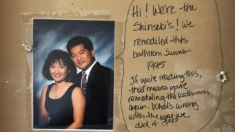 Calif. Couple Remodeling Bathroom Uncovers Hidden Message