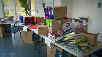 More Than 100 Boxes Of School Supplies Donated Friday