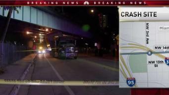 18 Wheeler Crashes Into Dolphin Expressway Overpass