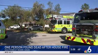 1 Dead After Fire at Home in SW Miami-Dade