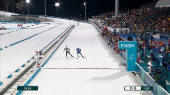 Watch Crazy Photo Finish in Men's Biathlon Race