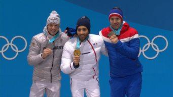 Medal Ceremony: France's Fourcade Picks Up Second Gold