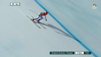 Mikaela Shiffrin Tests the Olympic Downhill Course
