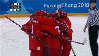 OAR's Three First-Period Goals Vs. Norway in Quarterfinal