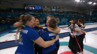 Sweden Celebrates Women's Curling Gold Medal Victory