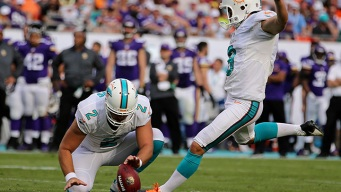 Dolphins Kicker Sturgis Out With Leg Injury