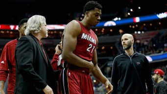 Whiteside Injured in Heat Loss to Wizards