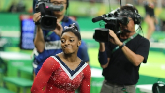 Biles' Run at Historic 5 Golds Ends, and She's OK With It