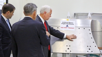 VP Pence Touches NASA Equipment Labeled 'Do Not Touch'