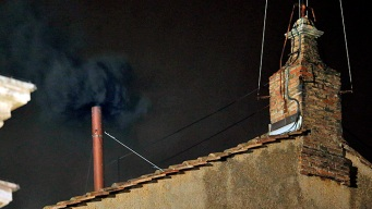 After First Day of Conclave, Black Smoke Means No New Pope Yet