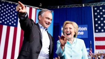 Clinton Makes Debut With Running Mate Tim Kaine in Miami