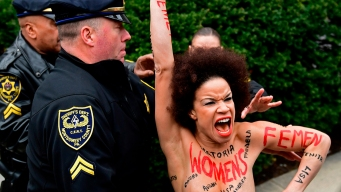 Topless Cosby Protester Was Actress on His '90's Show