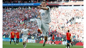 World Cup: Russia Beats Spain, Croatia Takes Denmark