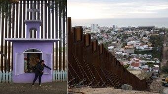 Homes, Tiny Shrine Illustrate US Border Barrier Conundrum