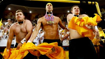 Phelps Wears Tiny Swim Suit in ASU's 'Curtain of Distraction'