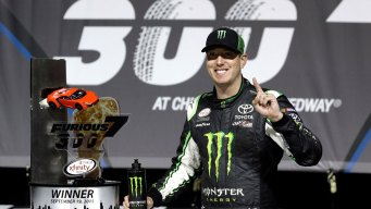 Kyle Busch Beats Matt Kenseth to Give JGR Xfinity Series Win