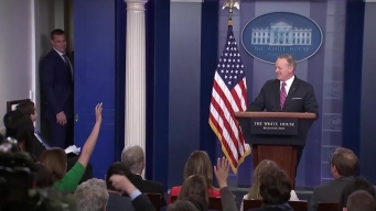 Gronk Crashes Spicer's White House Press Briefing