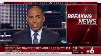 Bicyclist Struck and Killed by Brightline Train