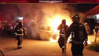 Car Fire Breaks Out Near Hialeah Home