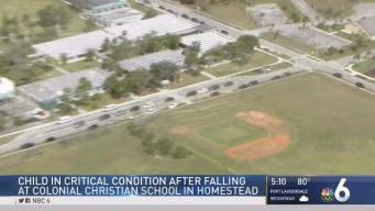 Child Critical After Fall at Homestead School