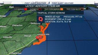 After Slamming Florida, Hermine Threatens East Coast