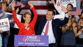 Ted Cruz Names Carly Fiorina as Running Mate