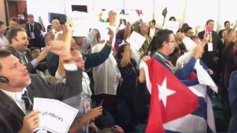 Cubans Protest at Summit of the Americas