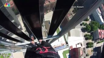 'French Spider-Man' Climbs Hotel in Barcelona