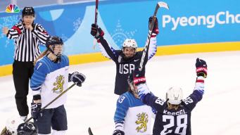 US Beats Finland to Reach Gold Medal Game