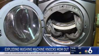 Exploding Washing Machine Knocks Mom Out