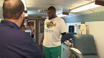 Former Dolphins Player Sets up Blood Drive