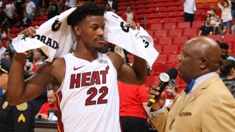 Jimmy Butler 'Blessed' With Baby, Heat Debut Win in 1 Week