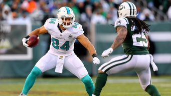 Dolphins' Cameron Out Thursday With Concussion