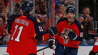 Huberdeau Leads Panthers to Win Over Devils